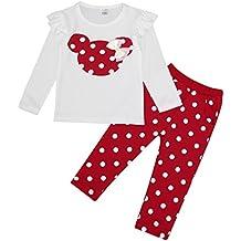 MIOIM® 2pcs Ropa Conjuntos Tops Camiseta Manga Larga Lunares para Bebés Infantil Niñas Camiseta De Impreso + Pantalones Larga de Algodón