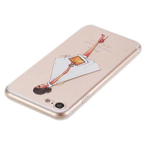 Beiuns pour Apple iPhone 7 (4,7 pouces) Coque en Silicone TPU Housse Coque - HX515 attrape rêve HX511 fille élégante