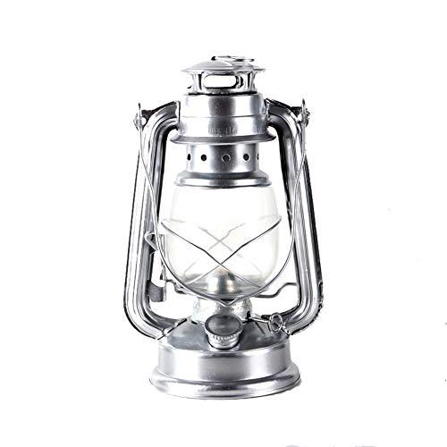 Yan Guo00 Schmiedeeisen Der Retro- Kerosinlampenverzierung Verziert Kreative Weinlese Bewegliche Glaspferdelichtfarbe 4 Wahlweise Freigestellt,Silver (Weinlese-hochzeits-kuchen-dekoration)