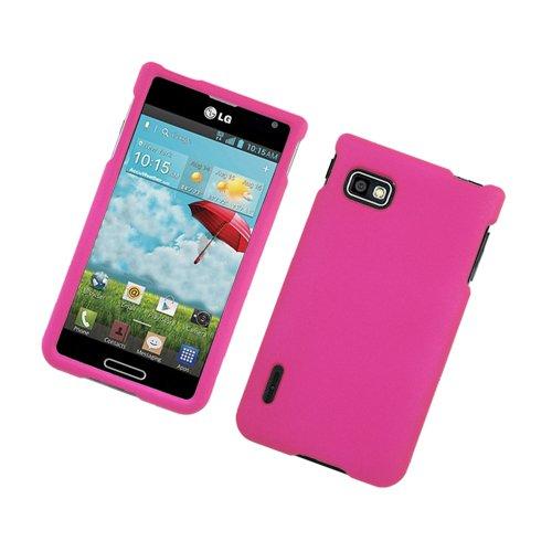 Eagle Zelle Kautschuk Schutzhülle für LG Optimus F3-Retail Verpackung-Hot Pink - Eagle Halfter
