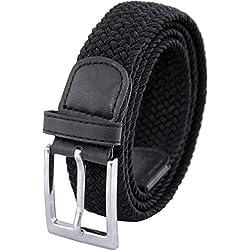 """Ashford Ridge Caja de regalo 33mm (1.25"""") cinturón elástico negro (tamaños 92cm - 102cm)"""