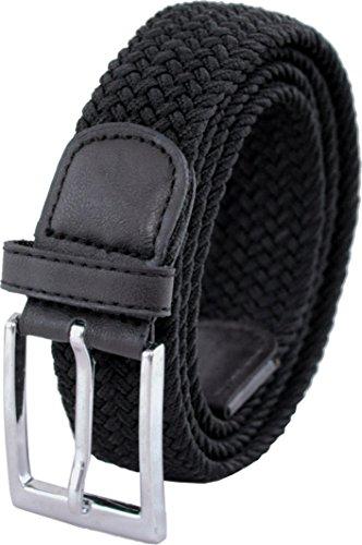 Ashford Ridge 33mm (1.25') cinturón elástico negro (tamaños 120cm - 130cm)