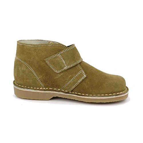 Boni Marius - Chaussures enfant cuir scratch Vert