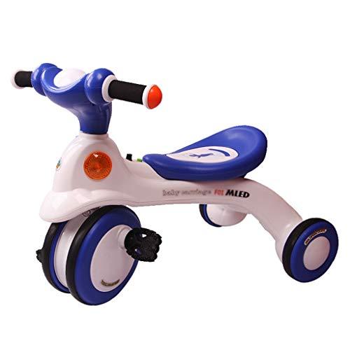 Xing Hua Home Sillas de Paseo Bicicleta Infantil para Niños De 1-2-3-6 Años Bicicleta Exterior para Niños Diseño Anti-Pinch Carga 25 Kg. (Color : Blue, Size : 65 * 39.5 * 49.5cm)