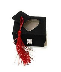 Idea Regalo - takestop® Set 12 Pezzi BOMBONIERA BOMBONIERE Cappello TESI Cuore SCATOLINA 7x5.5x5.5 CM PORTACONFETTI Porta Confetti Laurea