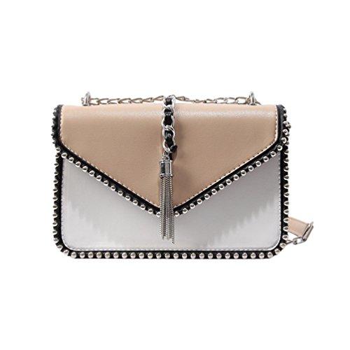 CHENYANG Damen Handtaschen Crossbody Taschen Kette Schultertaschen Fashion Mini Bags Khaki