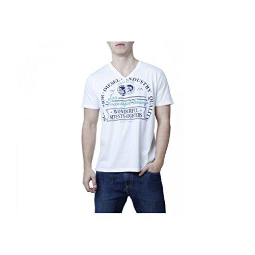 Diesel Herren T-shirt T-MOSELE-R 00S50G 0R91B 8AT Weiß