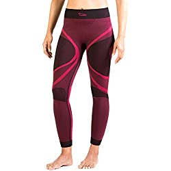 Xaed Pantalones Interior Funcion Mujer Ski, Pantalon Interior Funcion Ski, Mujer, Negro/Rosa, M