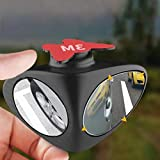 Automaze 3R Car Rear Double View Blind Spot Parking Mirror Adjustable Wide Angle, Blind Spot For Car Tyre (Right)