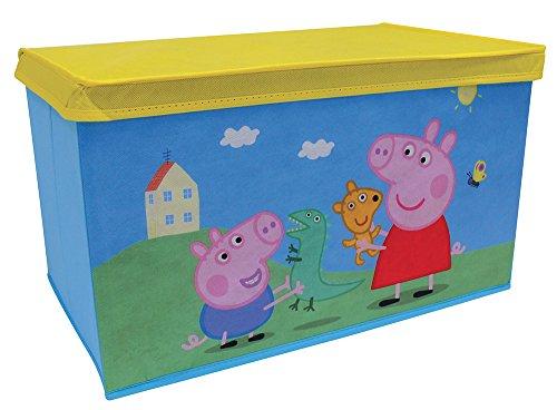 FUN HOUSE 712604 Peppa Pig Coffre à jouets pliable pour enfant Intissé Bleu 55,5 x 34,5 x 34 cm