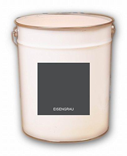 5 Liter grau Eisengrau Acryl Dachfarbe Dachanstrich Ziegelfarbe Dachbeschichtung Metalldach Blechdach Acrylat Basis