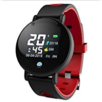 BHPL Activity Tracker Watch with Heart Rate Monitor, Waterproof Smart Bracelet with Step Counter, Calorie Counter, Pedometer Watch for Kids Women and Men,B