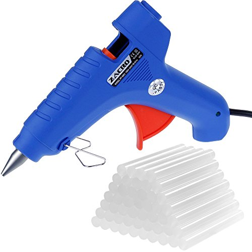 Zacro 60w Hot Melt Glue Gun with 50pcs Glue Sticks- High Temperature Glue Guns /Melting Adhesive Glue Gun Kit for DIY Small Craft and Quick Repairs in Home or Office, blue