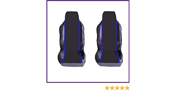 RENAULT KANGOO VAN PREMIUM FABRIC SEAT COVERS Blue PIPING 1+1 1998-2009