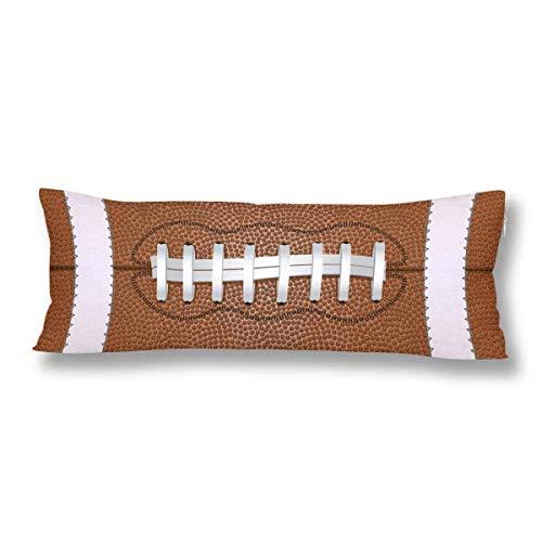 CiCiDi Seitenschläferkissen 40 x 145 cm US-amerikanischer American-Football-Ball Sportball Maschinenwäsche mit Reißverschlüssen Mutterschafts- / Lange Kissenbezug Myiw023