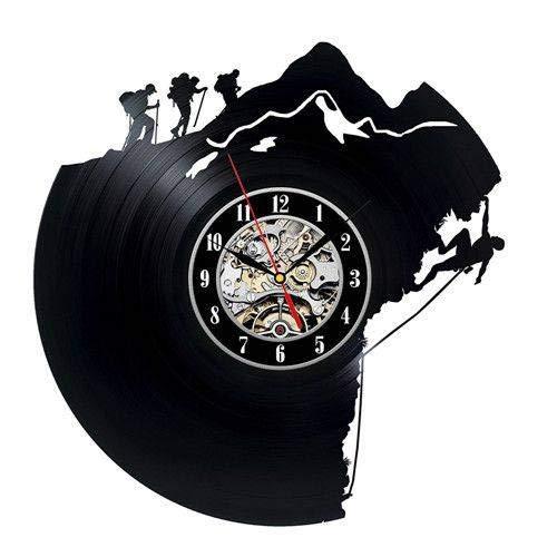 ZYCLOCK Reloj De Pared Reloj De Pared Decorativo Único del Disco De Vinilo Regalo para Escaladores Reloj Despertador Reloj De Pared Grande