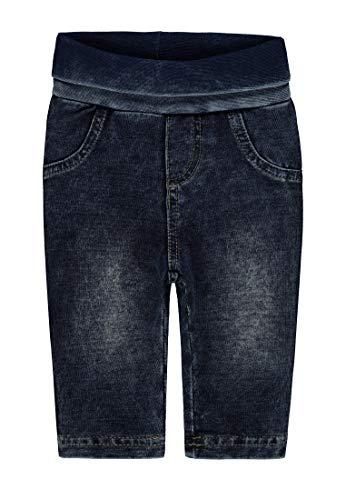 Steiff Baby-Mädchen Hose Wirk Jeans, Blau (Dark Denim Blue 0012), 74 (Mädchen Baby Jeans)