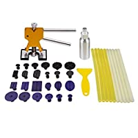Mookis Outils Kit de Réparation Carrosserie ,Débosselage Sans Peinture Paintless Dent 37Pcs avec Extracteur ,bâton de colles, onglets, Grattoir pour colle pas cher – Livraison Express à Domicile