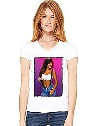 Kelly Kapowski Sexy Womens V-neck T-shirt