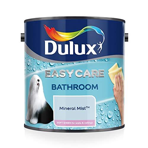 Dulux Badezimmer-Wandfarbe Plus, Glanzfarbe, 2,5l, apfelweiß, blau, 500001