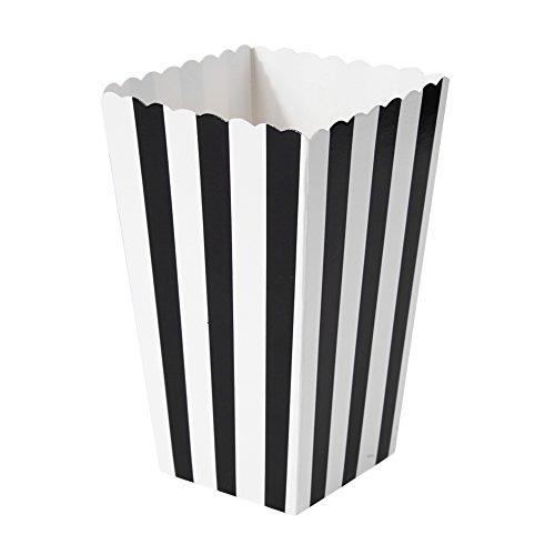 rzugung Süßigkeit Partytüten Festlichkeit Popcorn Box Kästen für Hochzeit Party (Schwarz) ()
