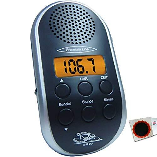 Fun Collection Fahrradradio BR23 Radio BR 23 schwarz 0223 4021347002232 +Flicken