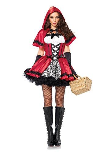 KXIN Costume da Gioco Femminile, Vestito Rosso Sexy di Red Hat, Festa di Carnevale di Halloween, Costume da Festa in Costume (M)