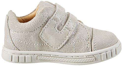 MOVE Kinderschuh Mädchen Sneaker, Chaussures Marche Bébé Fille Argent (Silver)