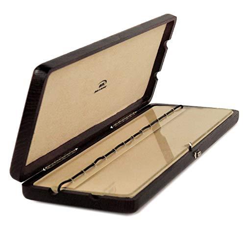 EM - 12er Blattetui für Klarinette (böhm oder deutsch) - aus Holz, Farbe: schwarz (geeignet für zwölf Klarinettenblätter)