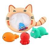 STOBOK 5pcs / Set scherzt Babybadspielzeug Bath Squirters mit der Katze Dredge