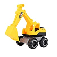 VSTAR66 Simulation Excavator Toy, Classic Mini Pre-Built Scaled Model Engineering Construction Vehicles for Kids Age 3+