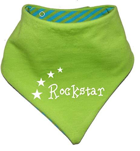 KLEINER FRATZ Foulard réversible pour bébé et enfant - Disponible en 7 motifs : 0 à 36 mois - Vert - 98