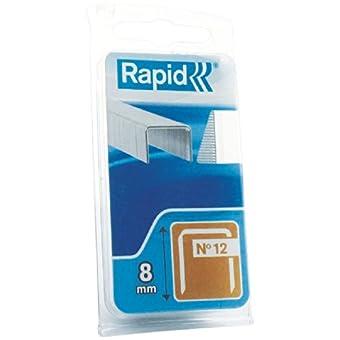 Agrafe n°12 Rapid Agraf - Hauteur 8 mm - 1440 agrafes