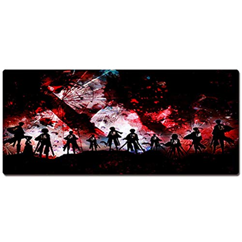 Oversized Anime Mouse Pad(600x300,800x400,900x400x3mm), Cartoon Game Padded Table Mat/Keyboard Pad, One Piece/Naruto/Dragon Ball/Death/Fairy Tail (Naruto Armband Aus Gummi)