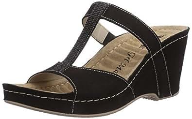rohde palermo damen pantoletten schwarz schwarz 90 41 eu schuhe handtaschen. Black Bedroom Furniture Sets. Home Design Ideas