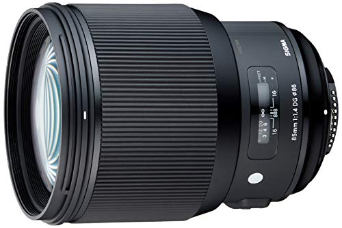 Sigma 85mm F1,4 DG HSM Art Objektiv (86mm Filtergewinde) für Nikon Objektivbajonett