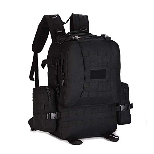 0d6c992b8b29 Huntvp 50L Military Tactical Molle Backpack Rucksack Gear Assault Bag  Combined with Two Molle Side Pouches