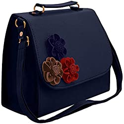 BFC 3D Flower Women's Sling Bag (Dark Blue)