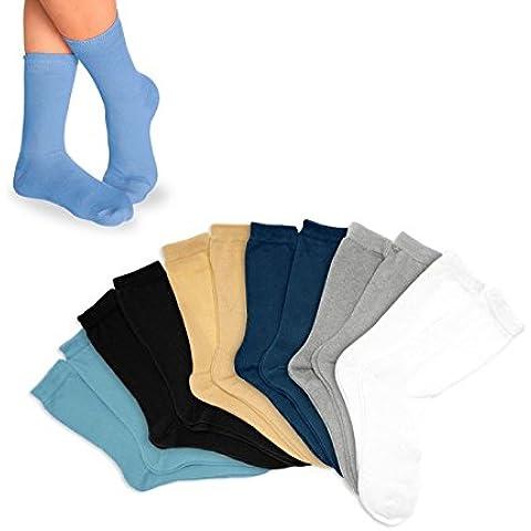 Pack de calcetines infantiles para niño (3 – 6 – 12 unidades) en diferentes colores y tallas mws1851/32 (PACK 12 - TALLA 27 A
