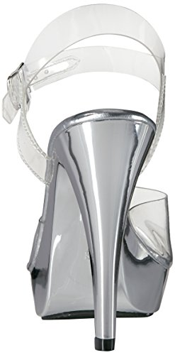 Fabulicious COCKTAIL-508 Damen Sandalette Clr/Slv Chrome