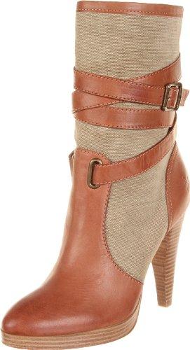 Frye Harlow Multi Strap Canvas/Veg Tan, Boots femme