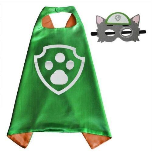 inder Cape und Masken Paw Patrol Rocky Kostüme Super Hero Kleid bis Paw Patrol Rocky Kostüme Avengers Rocky Marshall Skye Schutt Zuma Chase Fancy Kleid (Marshalls Halloween-kostüme)