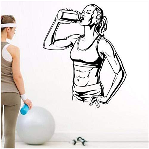 (Lsfhb 47X58 Cm Gym Drink Aufkleber Fitness Muskel Aufkleber Bodybuilding Poster Vinyl Wandtattoos Dekor Wandbild Gym Aufkleber)
