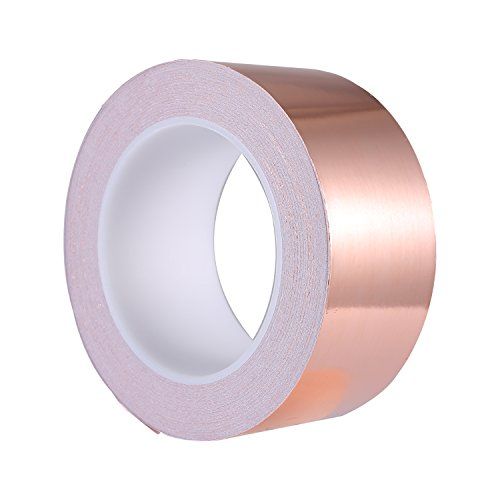 Zalava Copper Foil Tape 82ft X 2 inch Strong Adhesive Copper Foil Sheet EMI  Shielding for Guitar and Slug Repellent Crafts Decorations Electrical