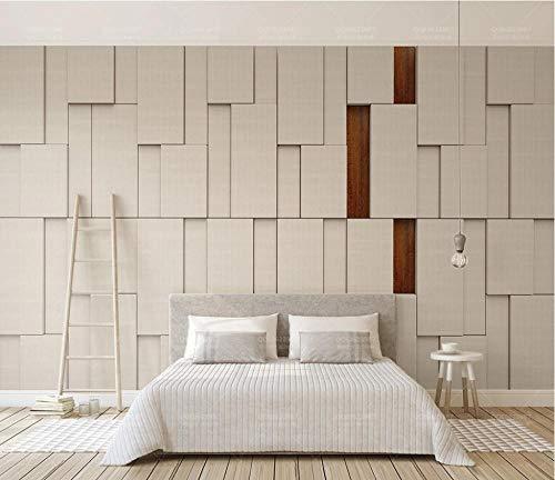Fototapete Design 200 cm X 150 cm Vlies Tapeten Wandtapete Vliestapete moderne Wandbild Wanddekoration Schlafzimmer Wohnzimmer 3d Hintergrundbild - Beige geometrisches Quadrat -