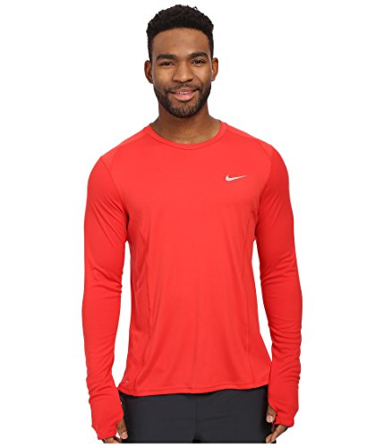 Nike Miler T-Shirt Homme University Red/Reflective