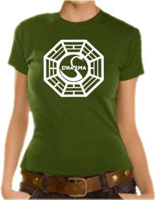 Touchlines T-shirt pour fille de Lost avec le logo Dharma Olive