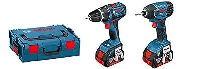 Bosch 0615990GF9 Atornillador, 18 V, Set de 2 Piezas