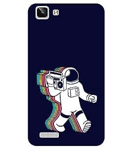 Chiraiyaa Designer Printed Premium Back Cover Case for Vivo Y27 Vivo Y27L (astronaut music) (Multicolor)