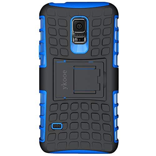 ykooe Coque Samsung Galaxy S5 Mini, Bouclier Série Smartphone Etui Housse Anti-Slip Galaxy S5 Mini Coque de Protection en TPU avec Absorption de Choc Béquille et Anti-Scratch [4.5 Pouces]